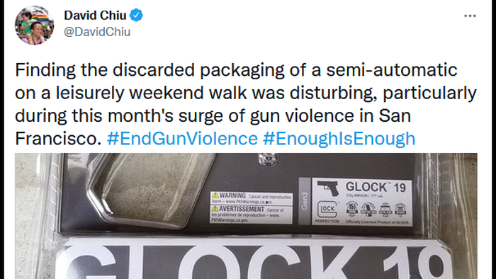 """CA Lawmaker Mocked After After Finding """"Semi-Automatic"""" Glock Packaging -- For BB Gun"""
