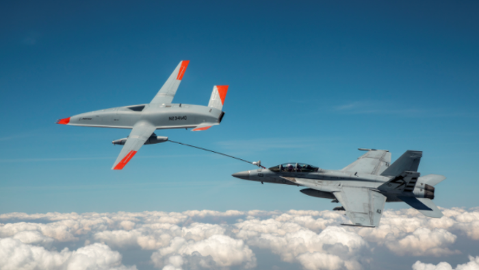 """Watch""""History-Making Event"""" As Boeing's Drone Refuels Fighter Jet"""