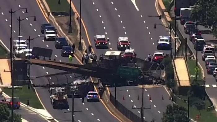 6 Injured After Pedestrian Bridge Collapses In DC