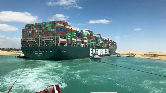 Insurers, Owners OfStuck Container Ship Reach Deal WithSuez Canal Authority