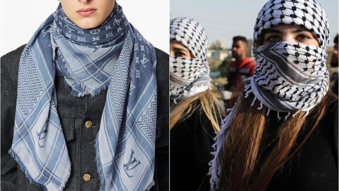 """Louis Vuitton Under Fire For """"Absolutely Disgusting"""" Palestinian Headscarf Knockoff"""