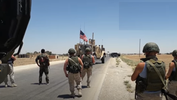 Watch: US Patrol In Syria Blocked By Line Of Russian Commandos