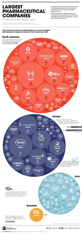 Visualisierung der größten Pharmaunternehmen der Welt