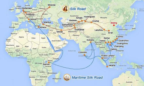 Here is OBOR. The old Silk Road being resurrected by the CCP.