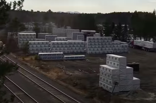 """There Is No Shortage?"" Train Loads Of Lumber Stacked As Far As The Eye Can See"