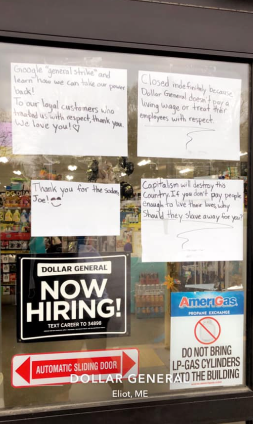 Entire Dollar General Store Closes After Staff Quits Over Lousy Pay