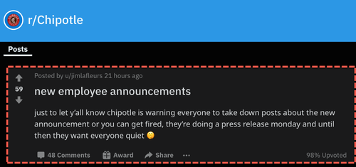 Redditors Claim Chipotle To Announce Pay Increases To Address Labor Shortage