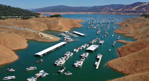 Houseboats Evacuated From California's LakeOroville Amid Megadrought 2