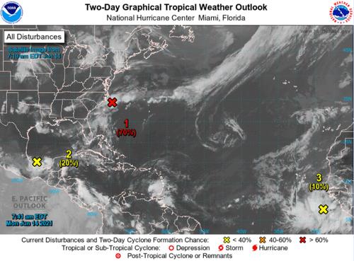 Busy Start To Hurricane Season? NHC Currently Tracks 3 Disturbances