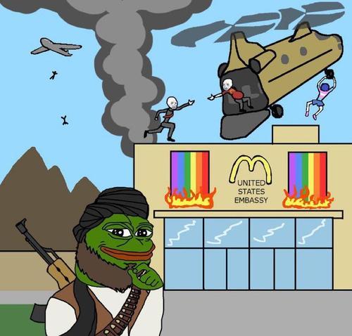 America leaving Afghanistan meme