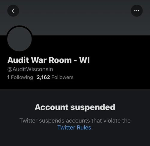 Twitter Suspends 2020 Election Audit Accounts