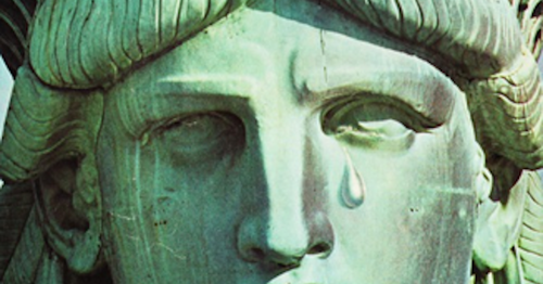 How To Buffer The Fallout From America's Third World Death Spiral  Mourning-the-Election-Crying-Statue-of-Liberty