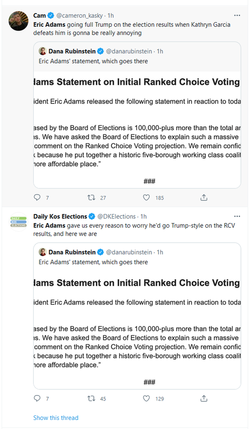 NY Mayoral Candidate Eric Adams Demands Explanation After 150K Vote 'Irregularity' Narrows Lead 2