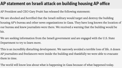 Biden Phones Netanyahu After Israel Flattens AP Offices In Gaza — Has Yet To Condemn Attack