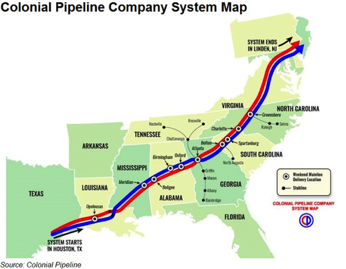 Cyberattack Forces Shutdown Of Largest Gasoline Pipeline In United States