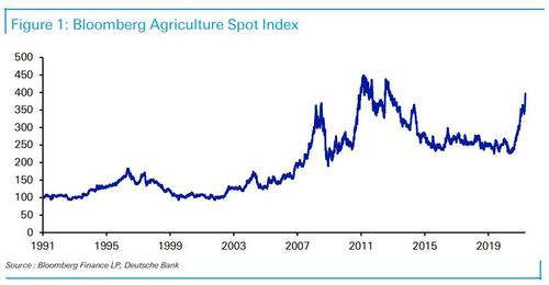 One Bank Warns Soaring Food Prices Will Lead To Social Unrest Db%20bbg%20agri%20index