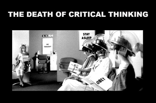 death of critical thought