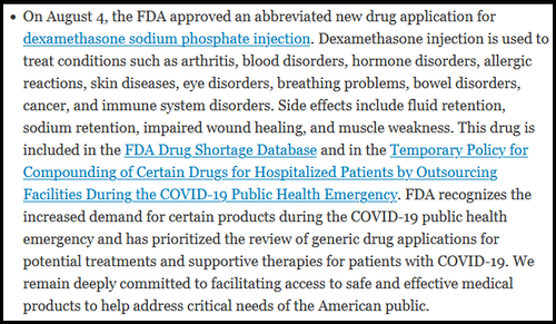 FDA Lists 'Horse Drug' As Approved COVID Treatment Dex44