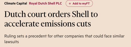 Dutch court orders shell to accelerate emissions cuts