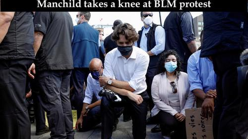 What a kneeling man child looks like