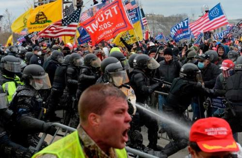 """Capitol Police Officers Sue Trump For Allegedly 'Masterminding' Jan. 6 """"Attack"""""""