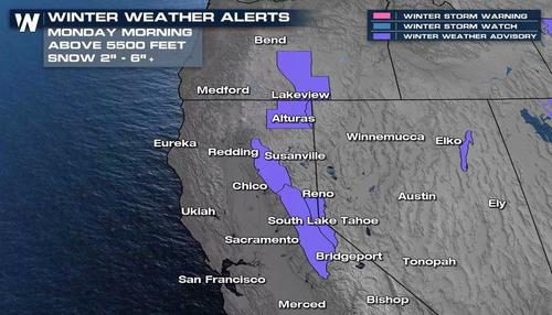 Northern California Gets Reprieve From Worst Drought In Century As Rain And Snow Fall