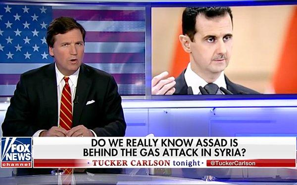 """We're Being Played"": Tucker Carlson Features Leaked Syria Chemical Attack Memo"
