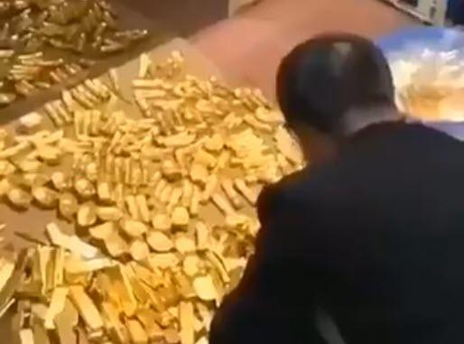 Stunning Clip Shows Billions In Gold, Cash Hidden In Chinese City Mayor's Secret Basement