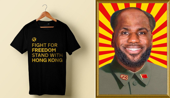 "NBA Fan Raises $43K For ""Stand With Hong Kong"" T-Shirts As Protesters Torch LeBron Jerseys"