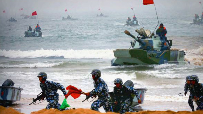 Image Pompeo's 'Cold War Rhetoric' Comes As Report Finds China's Marine Units To Expand